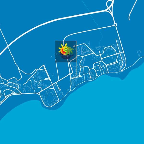 mapa mar azul playa